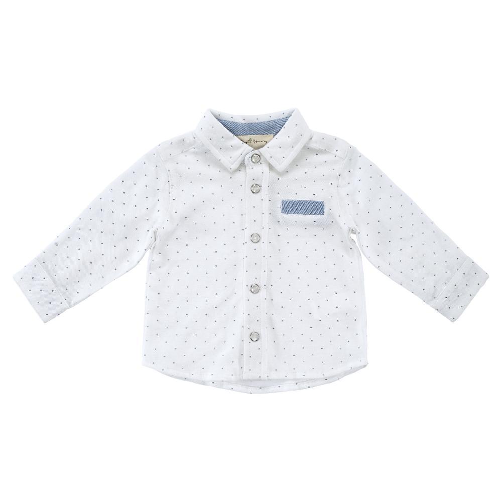 Camasa copii Chicco, maneca lunga, alb cu bleu, 54367