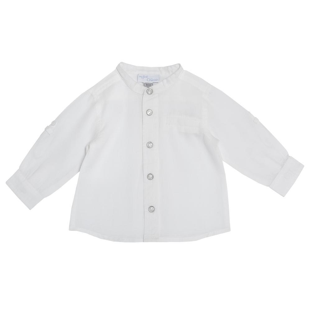 Camasa copii Chicco, maneca lunga, baieti, alb, 54325