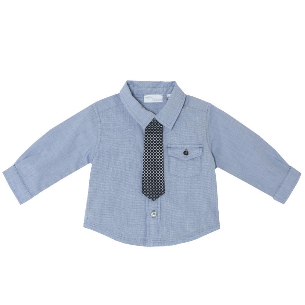 Camasa copii Chicco, maneca lunga, baieti, bleu, 54323