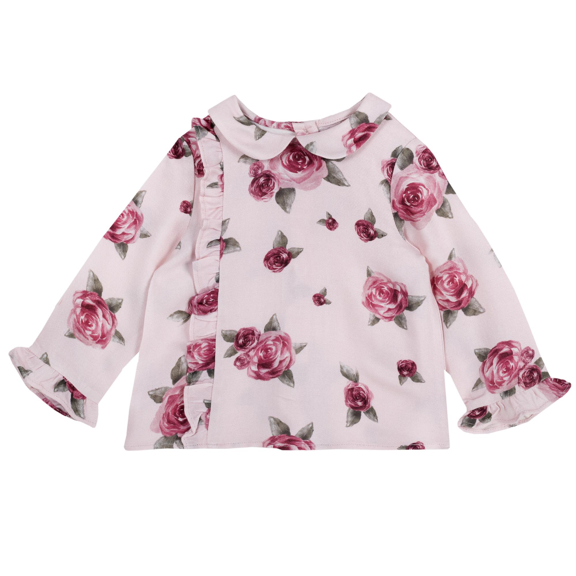 Camasa copii Chicco, roz cu trandafiri