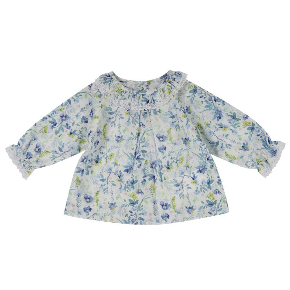 Camasa cu maneca lunga copii Chicco, fete, imprimeu floral