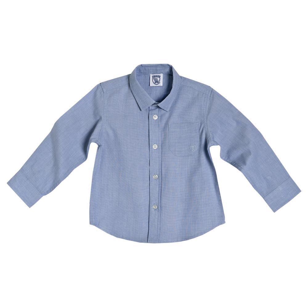 camasa maneca lunga chicco, bleu, poplin