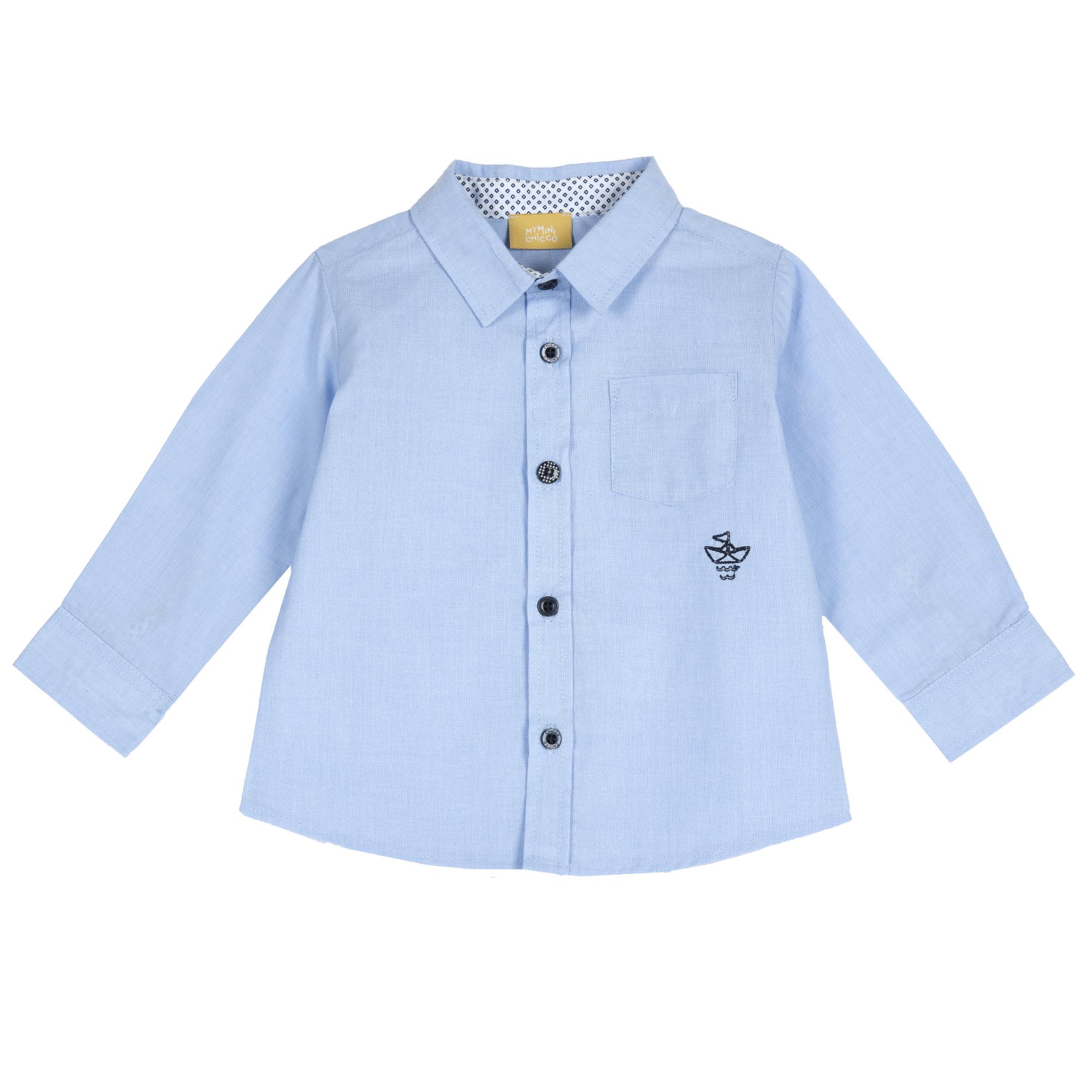 Camasa Copii Chicco, Maneca Lunga, Albastru Cu Roz, 54524 imagine