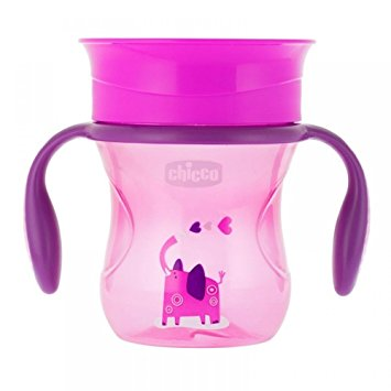Canuta Chicco 360 Perfect Cup, Girl, 12luni+ din categoria Diversificare alimentatie