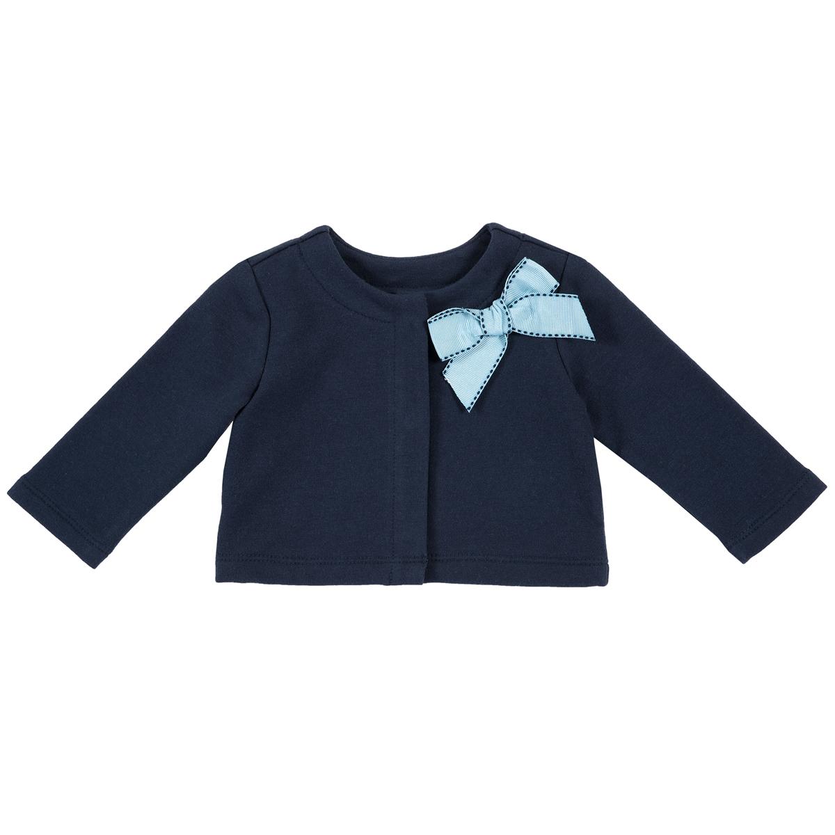 Cardigan copii Chicco, bleumarin cu fundita decorativa, 96945 din categoria Cardigan copii