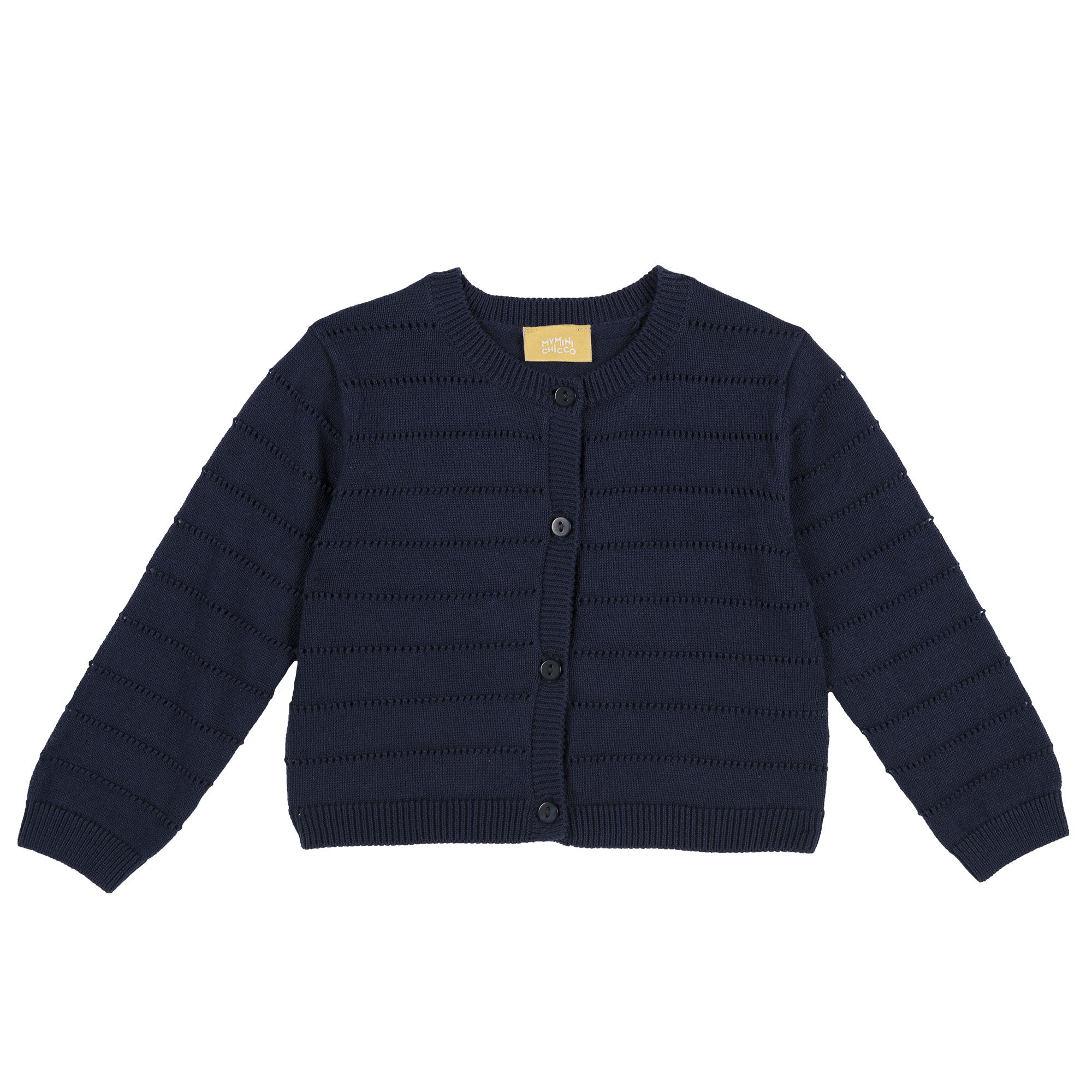 Cardigan copii Chicco, maneca lunga, albastru inchis, 96811