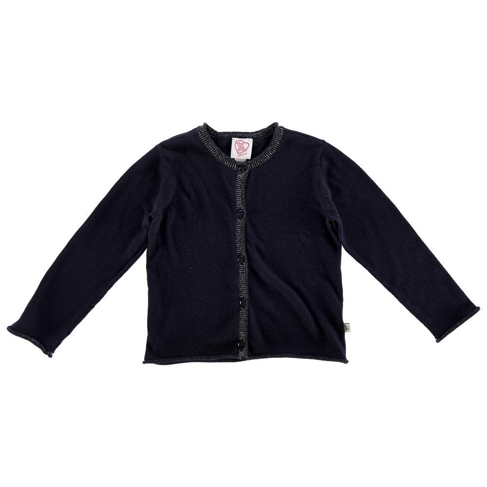 Cardigan copii Chicco, tricotat, bleumarin