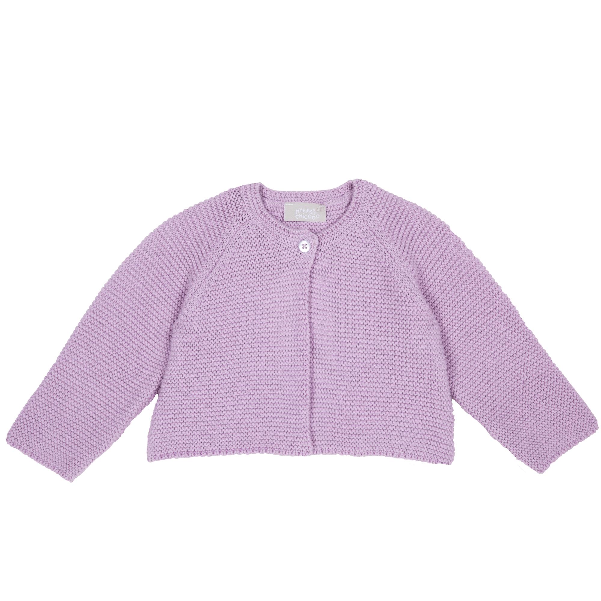 Cardigan copii Chicco, tricotat, lila, 96787