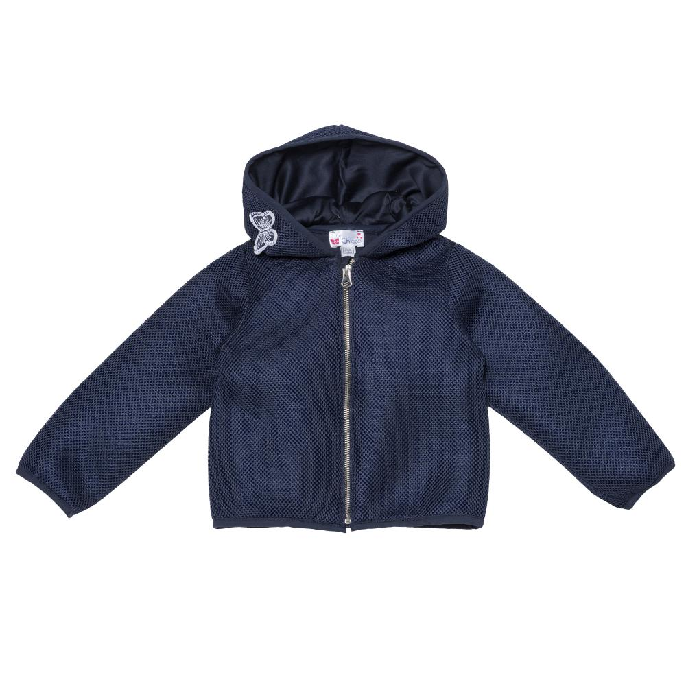Jacheta pentru fetite Chicco cu gluga albastru 122
