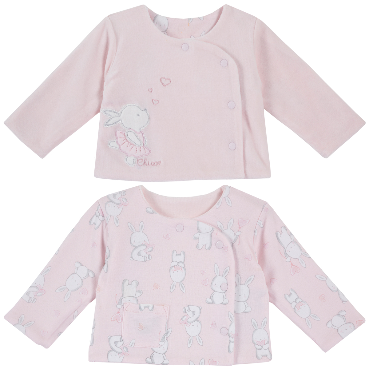 Cardigan copii Chicco, reversibil, imprimeu animalute, 96938 din categoria Cardigan copii