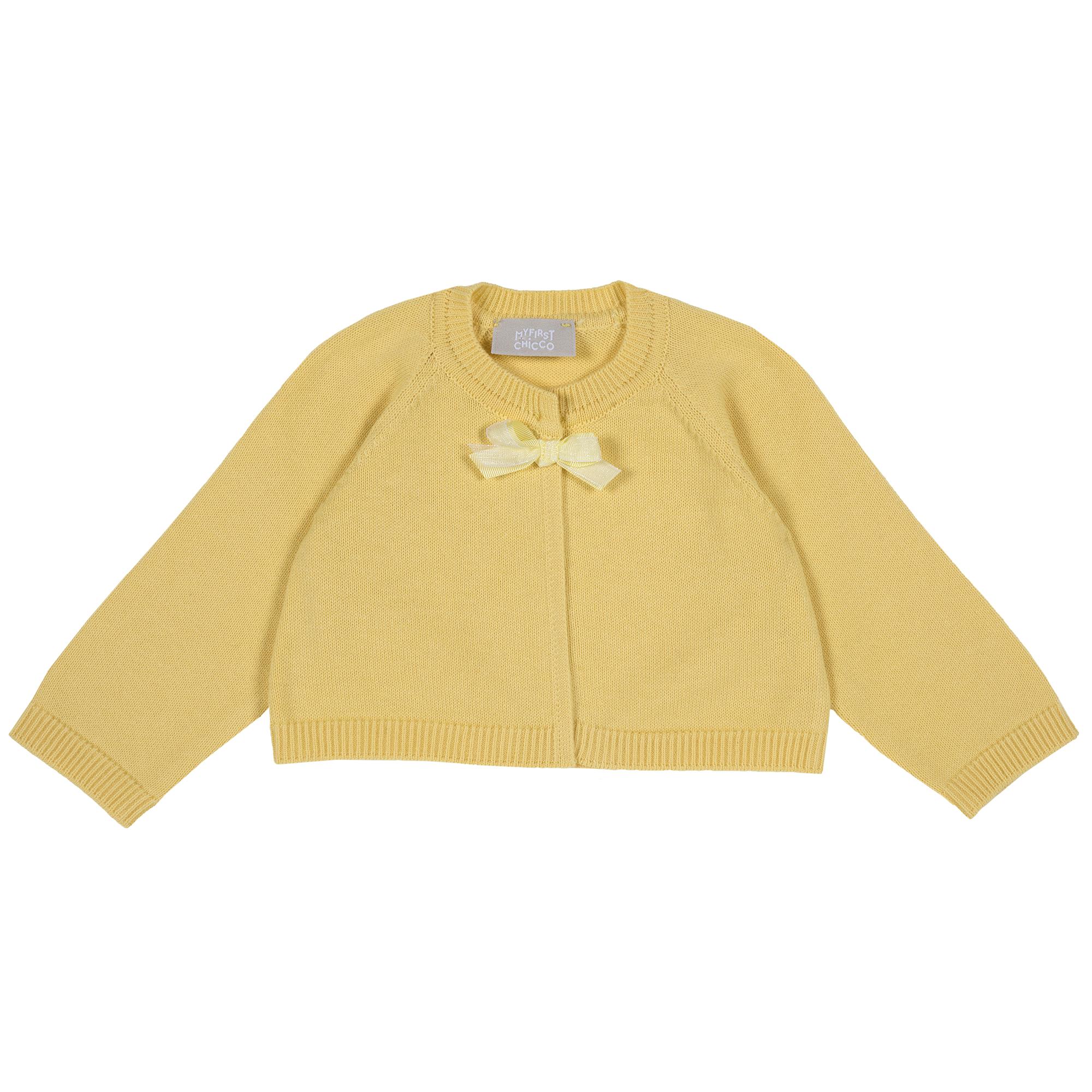 Cardigan copii Chicco, tricotat, galben, 96843 din categoria Cardigan copii