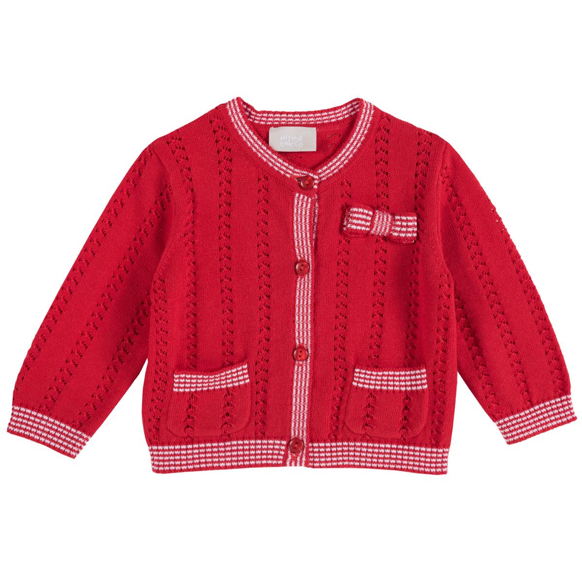 Cardigan copii Chicco, tricotat, rosu, 96795 din categoria Cardigan copii