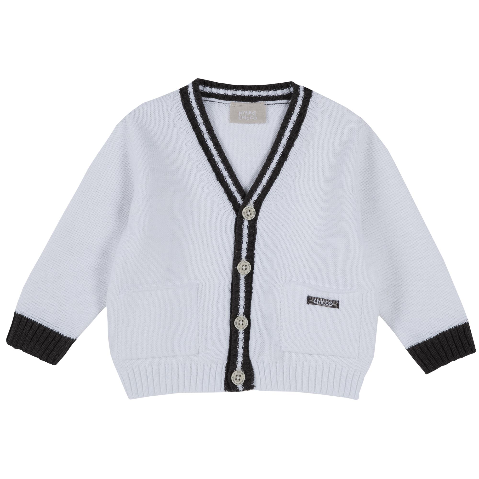 Cardigan copii Chicco, tricotat, alb, 96853 din categoria Cardigan copii