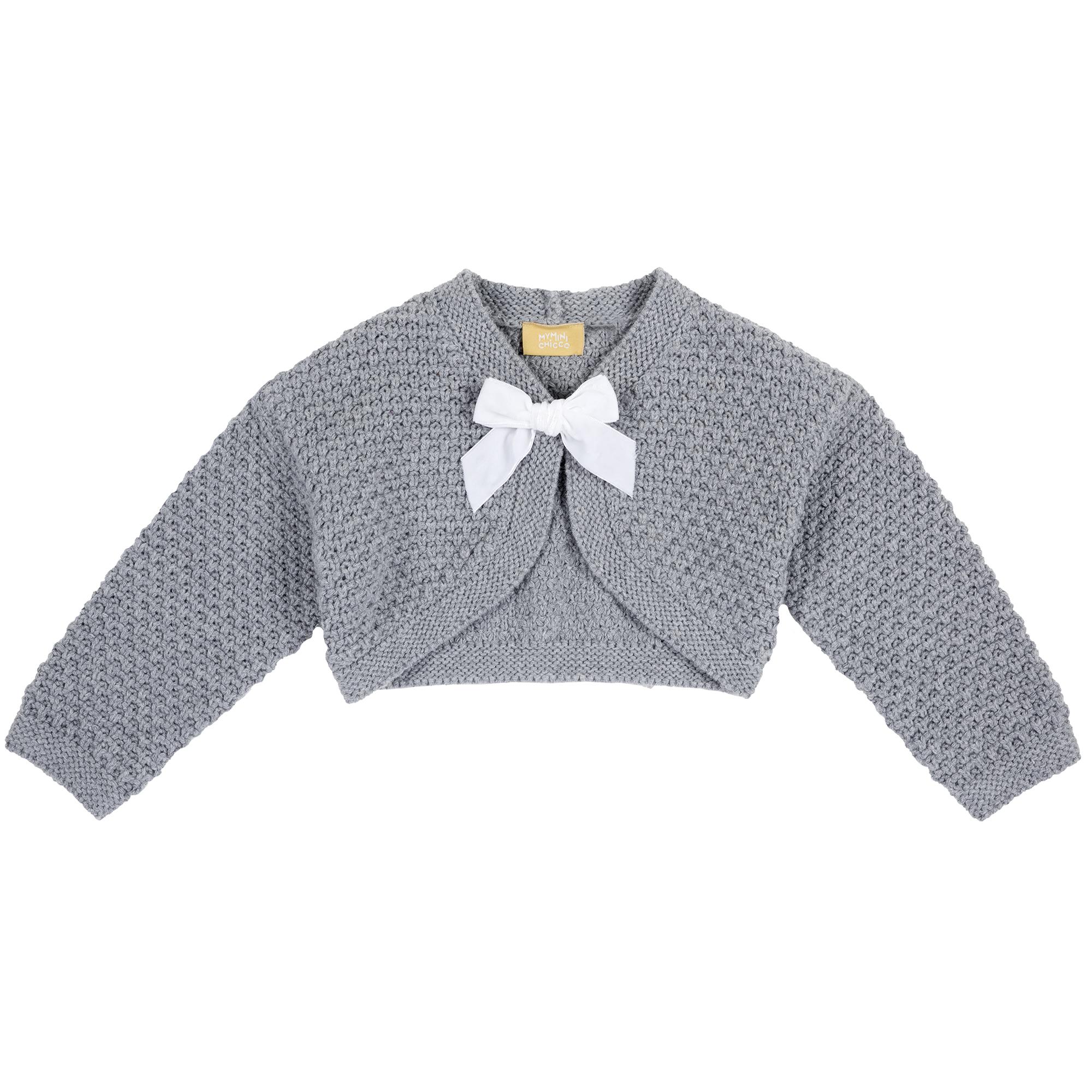 Cardigan-bolero copii Chicco, tricotat, fundita aplicata, 96960 din categoria Cardigan copii