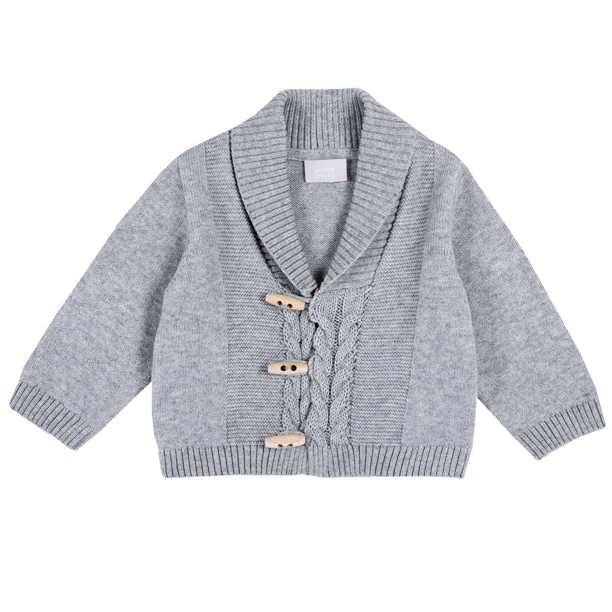 Cardigan copii Chicco, tricotat, gri, 96927