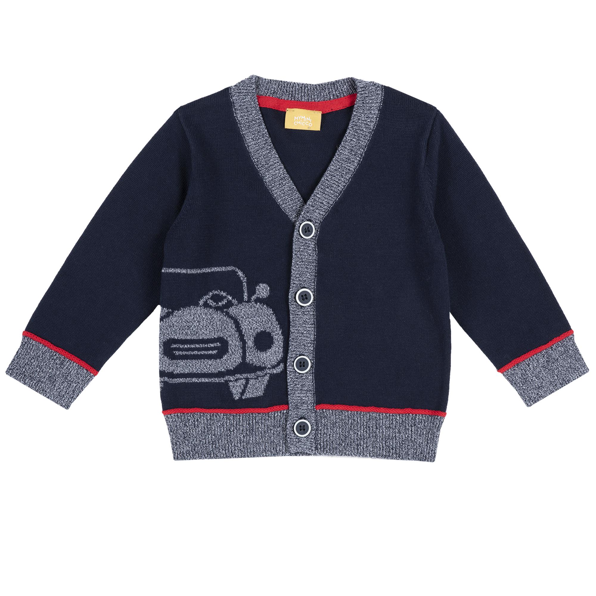 Cardigan Copii Chicco, Tricotat, Albastru, 09411 imagine