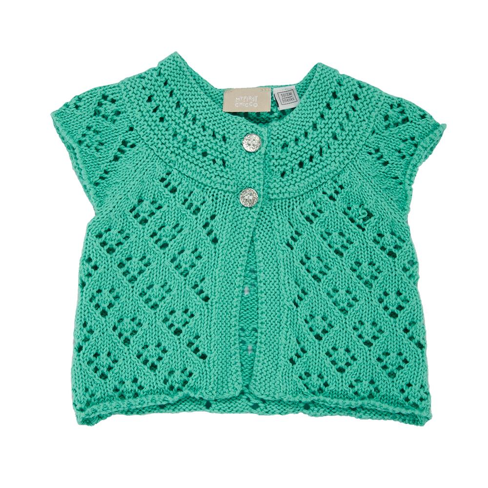 cardigan tricotat copii chicco, verde menta