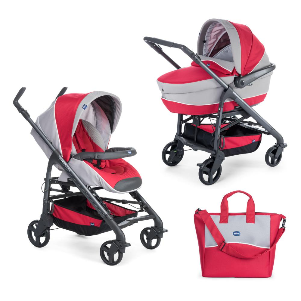 Carucior 2 in 1 Chicco Duo Love Motion, carucior si landou, Red Passion, 0luni+