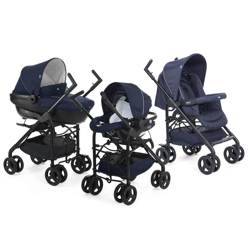 Chicco Carucior 3 in 1 Chicco Trio Sprint car kit BluePassion 0luni+