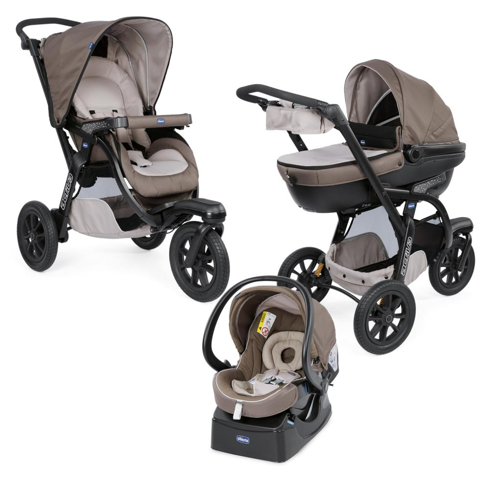 Carucior Chicco Trio Activ3, Car Kit, 0+luni, Dove Grey