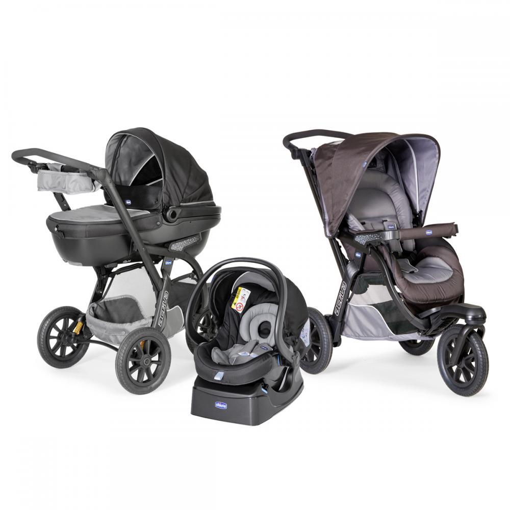 carucior chicco trio activ3 car kit 0 luni grey. Black Bedroom Furniture Sets. Home Design Ideas