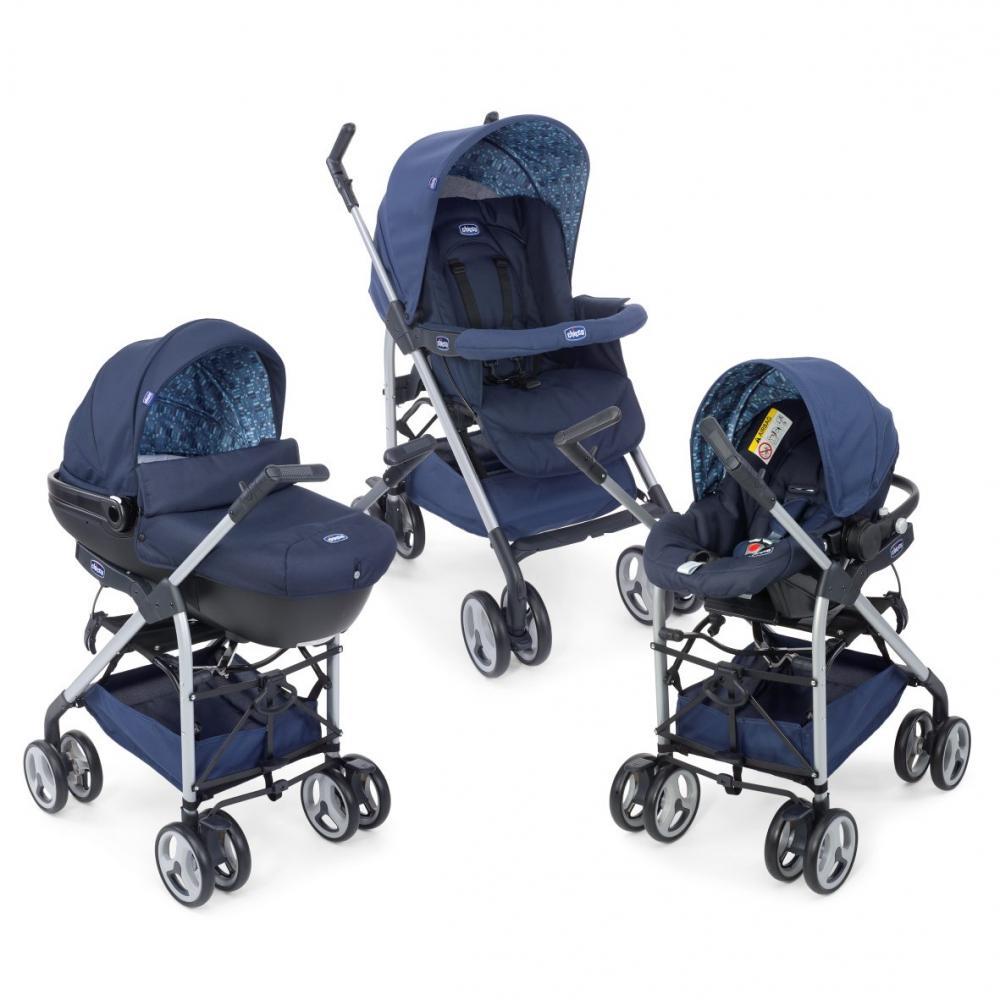 carucior 3 in 1 chicco trio sprint blue 0luni. Black Bedroom Furniture Sets. Home Design Ideas