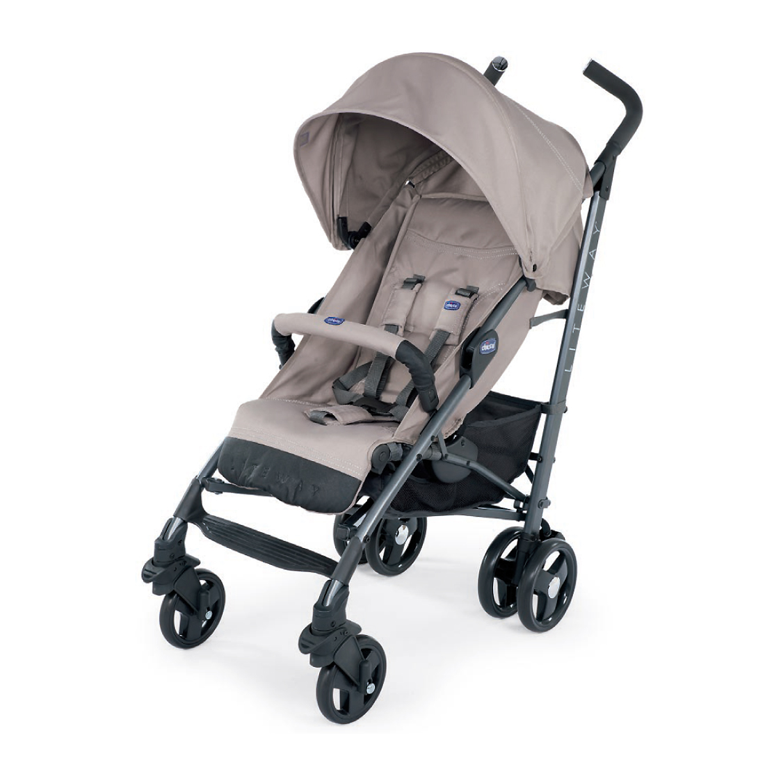 Carucior Sport Chicco Liteway 3 Top, Dark Beige (Bej), 0luni+ imagine