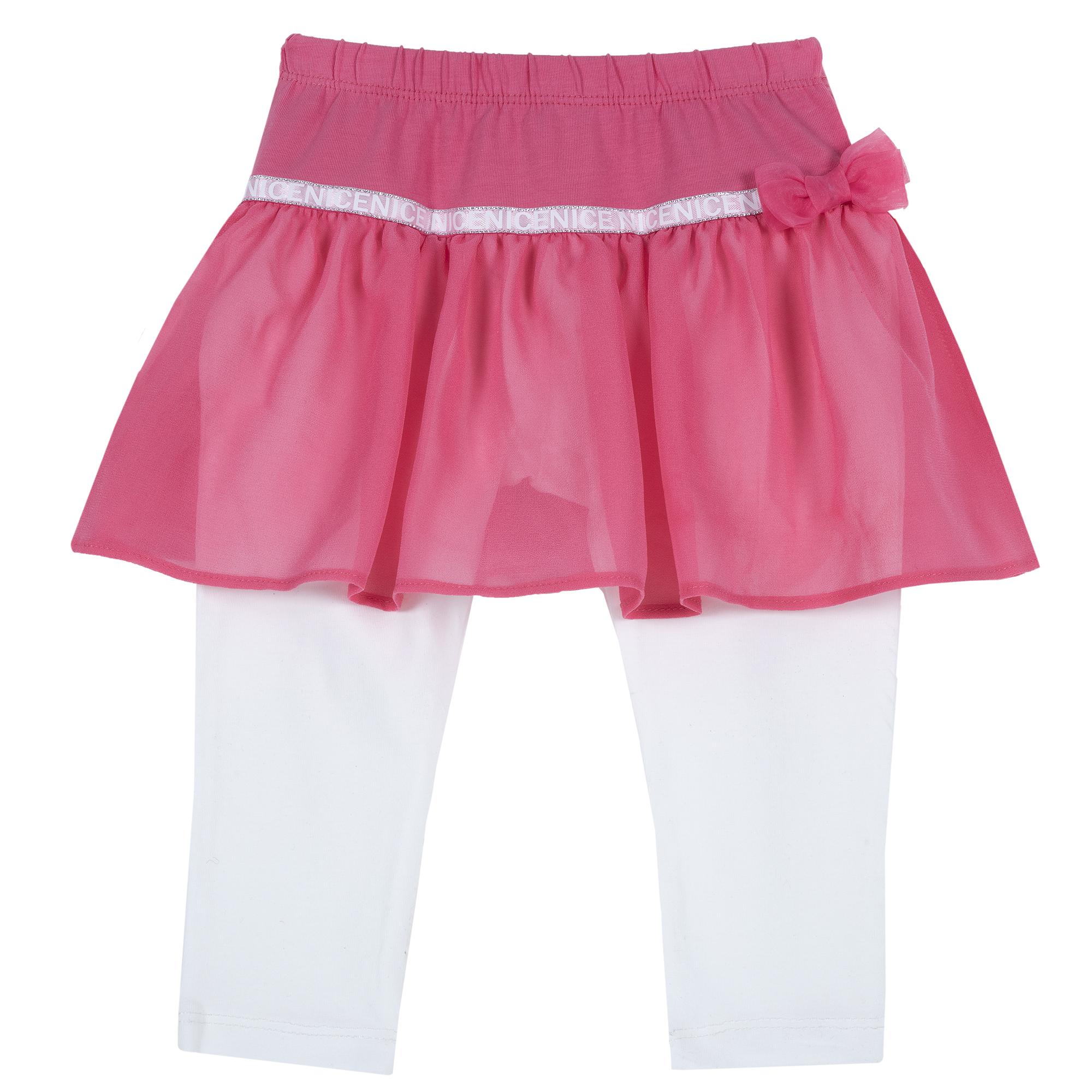 Fusta copii Chicco voal alb cu roz
