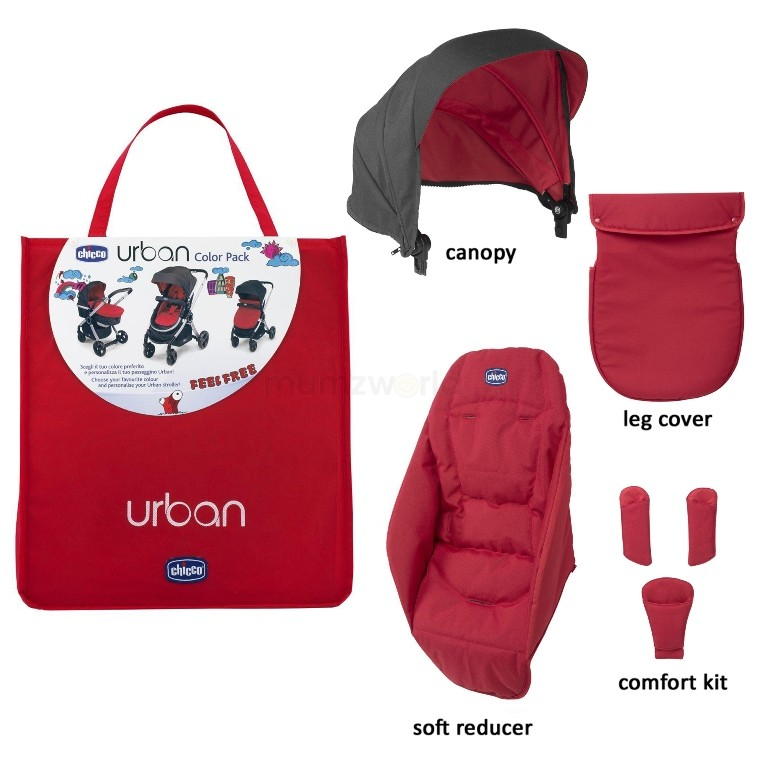Chicco Color Pack Carucior Chicco Urban Special Edition Red