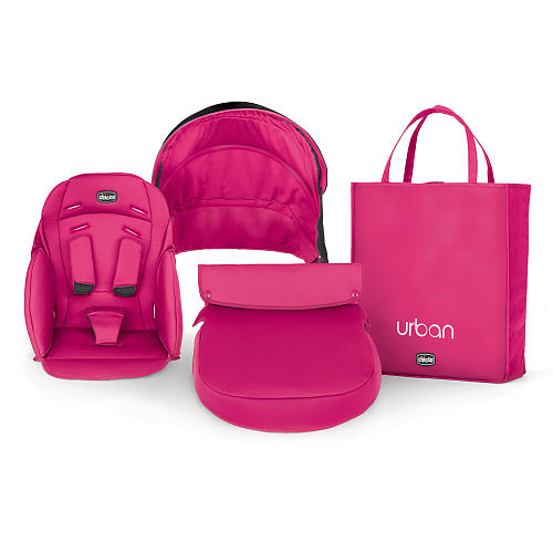 Kit husa carucior Chicco Urban Cherry