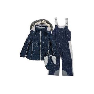 Costum ski copii Chicco, bleumarin cu model