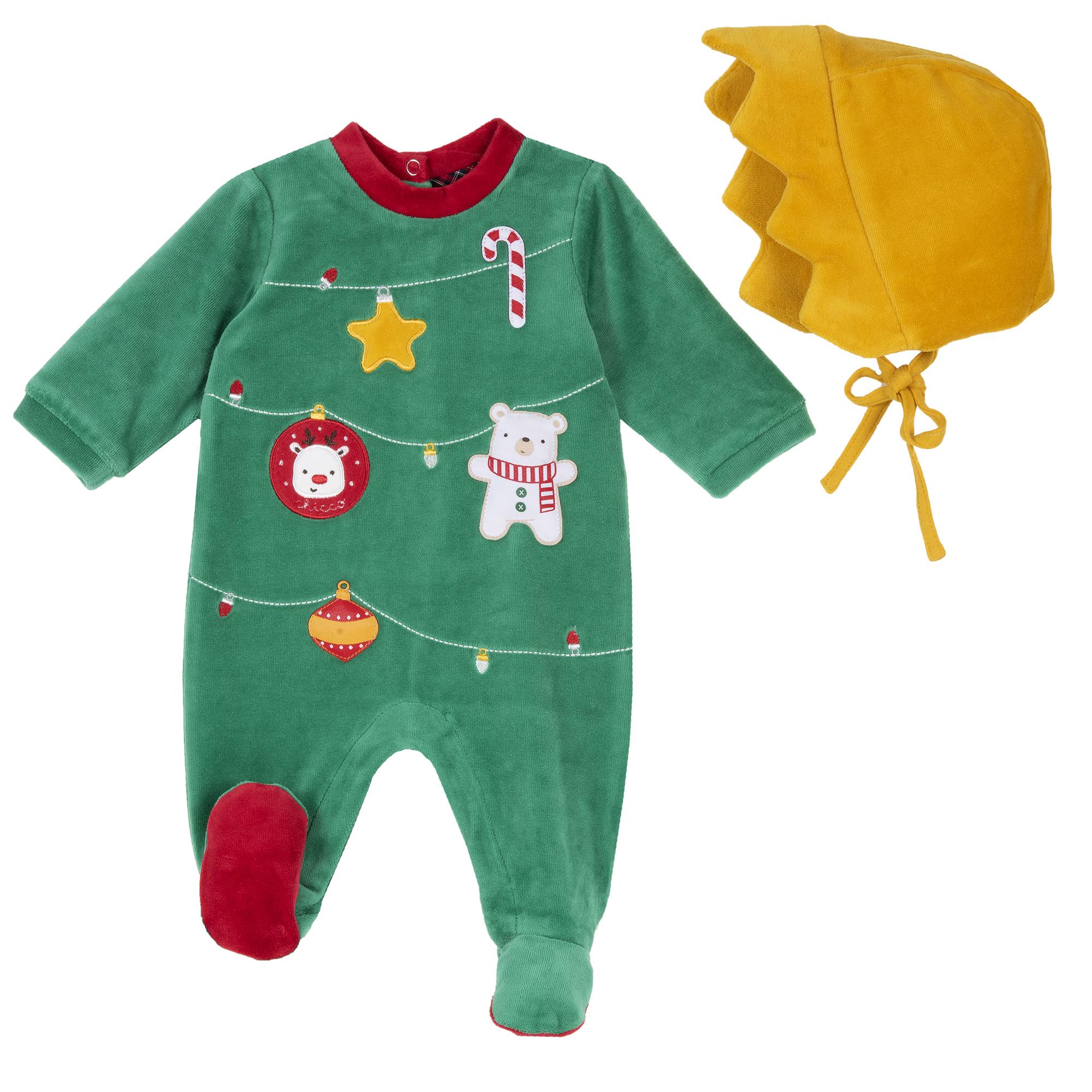 Set Costum Craciun Pentru Copii, Verde, 20798 imagine