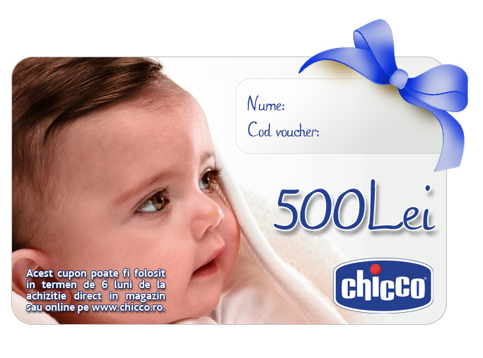 Cupon CADOU Chicco Gift Card 500Lei
