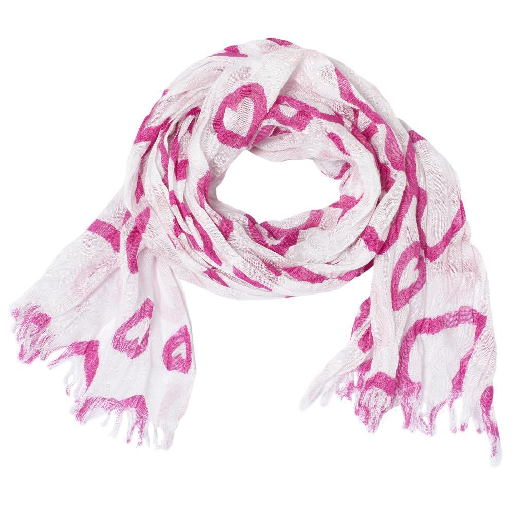 Esarfa pentru copii Chicco, alb cu roz, 04024