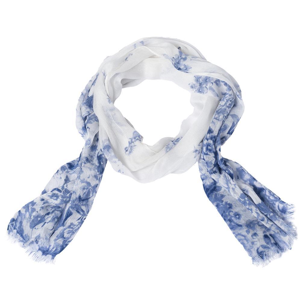 Esarfa Chicco pentru copii, alb cu albastru, 04249