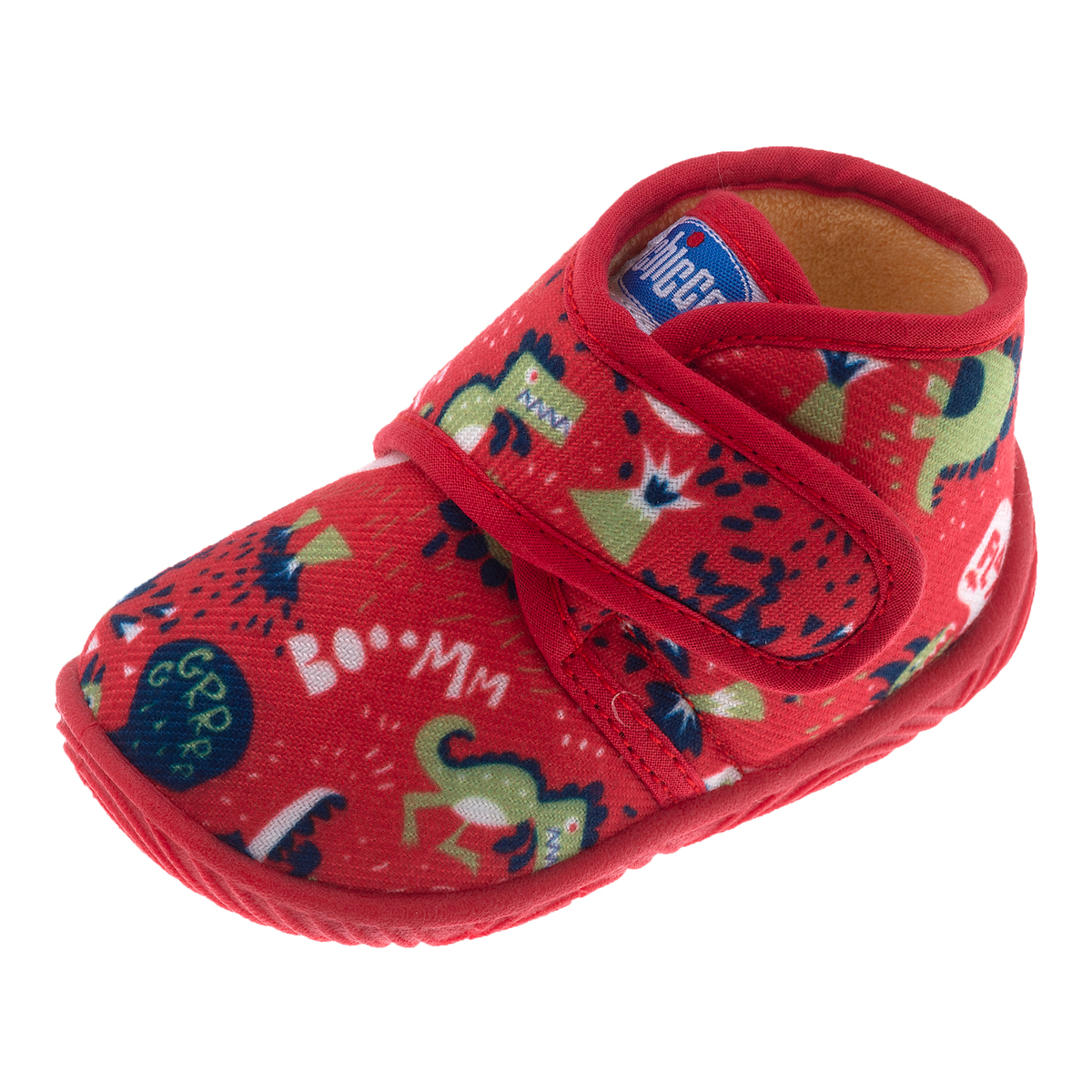 Pantofi de casa Chicco Tamigi, rosu cu model, 60723 din categoria Pantofi de casa