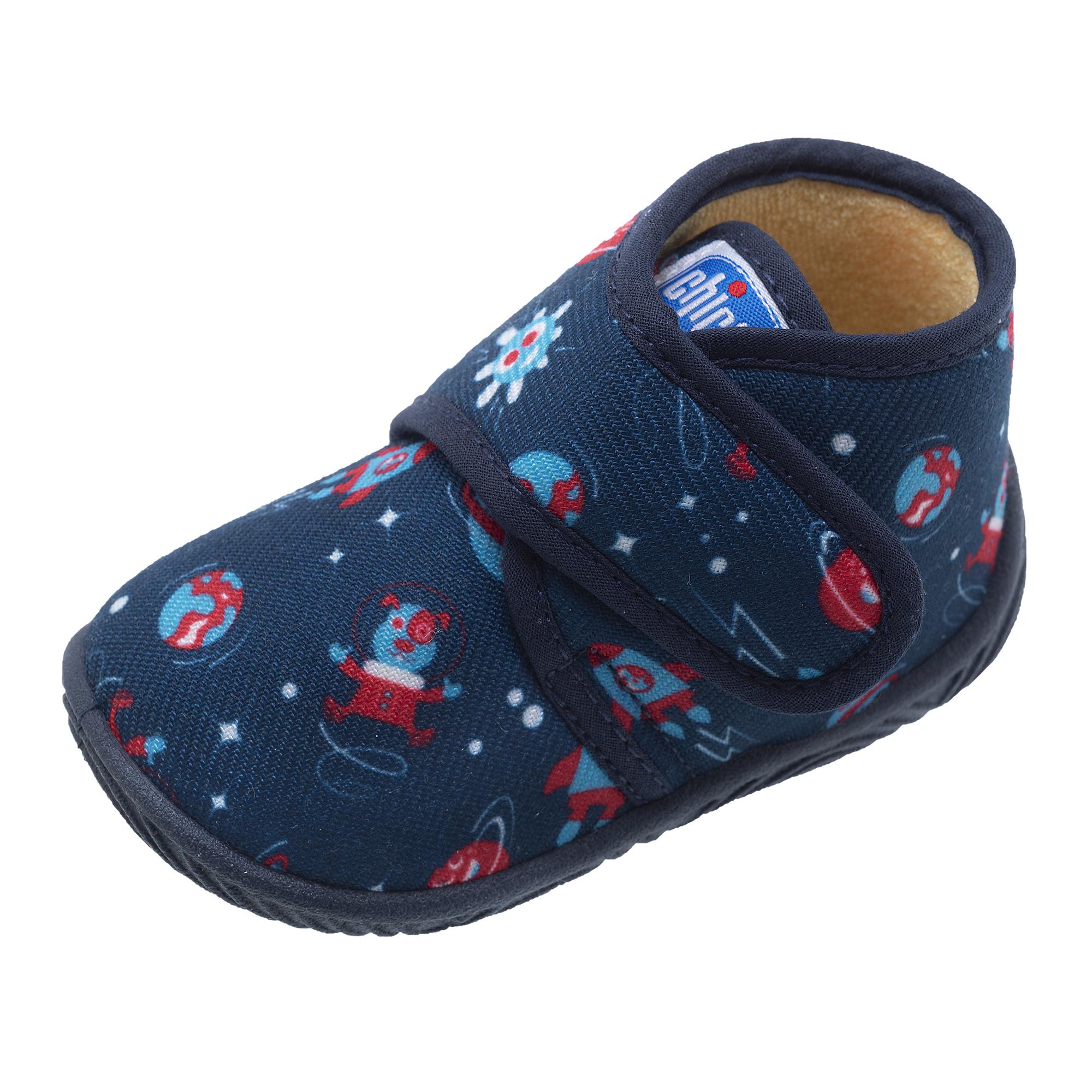 Pantofi Casa Copii Chicco, Albastru Cu Model, 64761 imagine