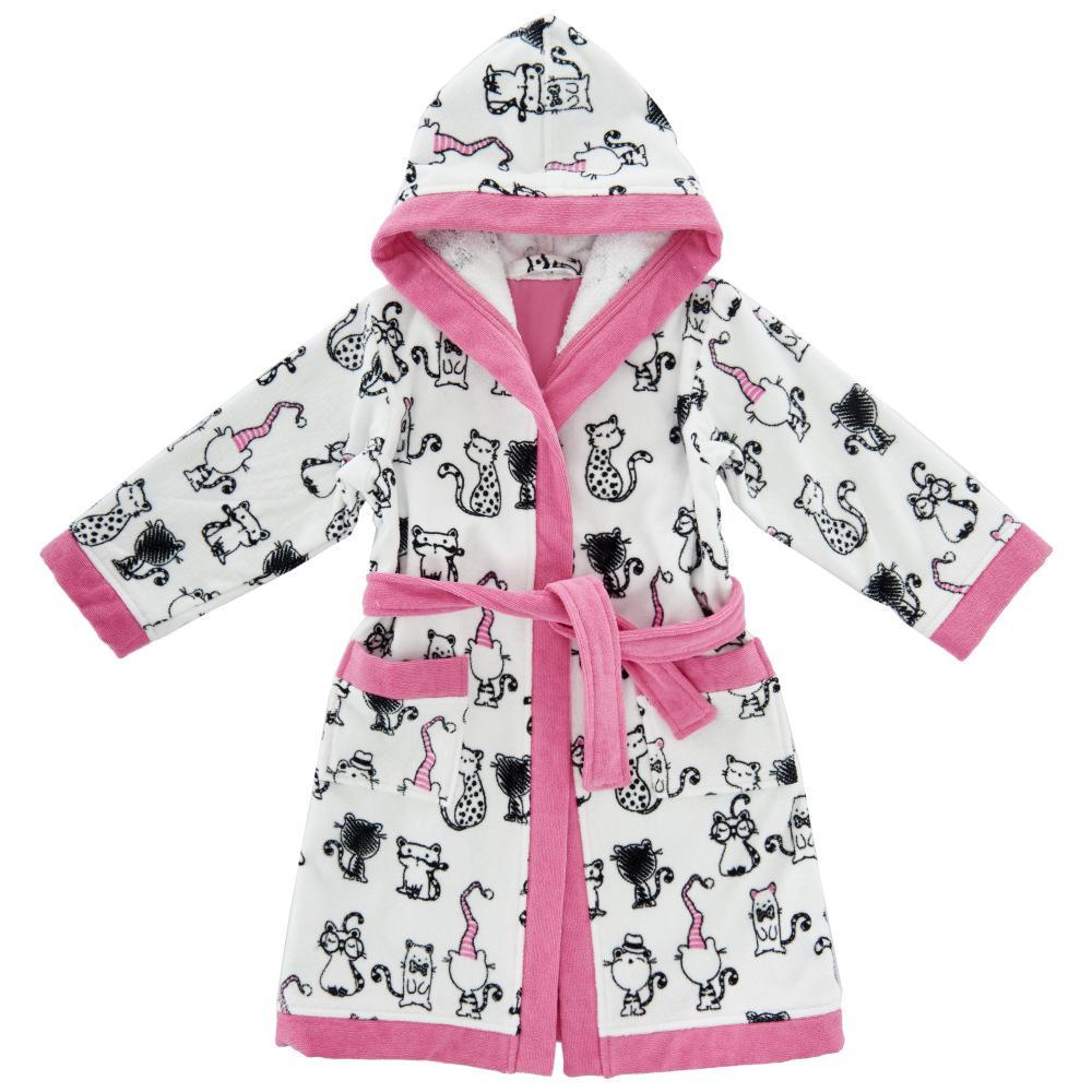 Halat baie copii Chicco, fetite, alb cu roz si negru, 40881