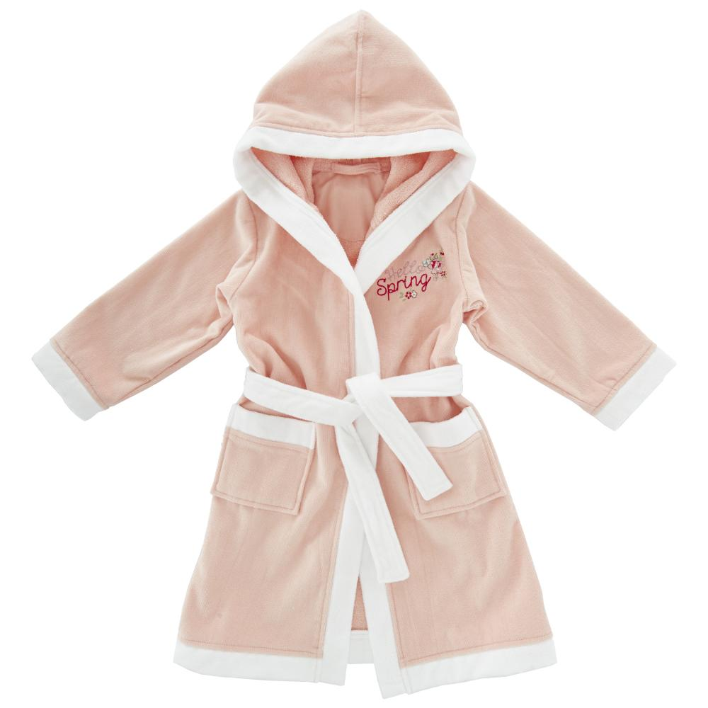 halat baie copii chicco, fetite, roz cu alb