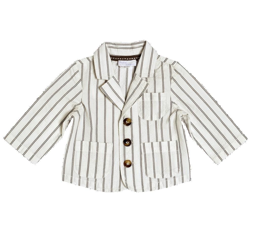 Jacheta Chicco, alb cu maro, 84281 din categoria Jachete copii