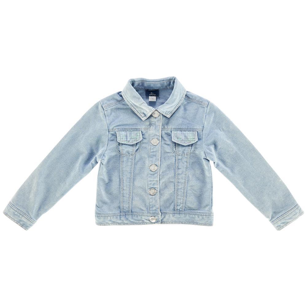 Jacheta copii denim Chicco, albastru deschis