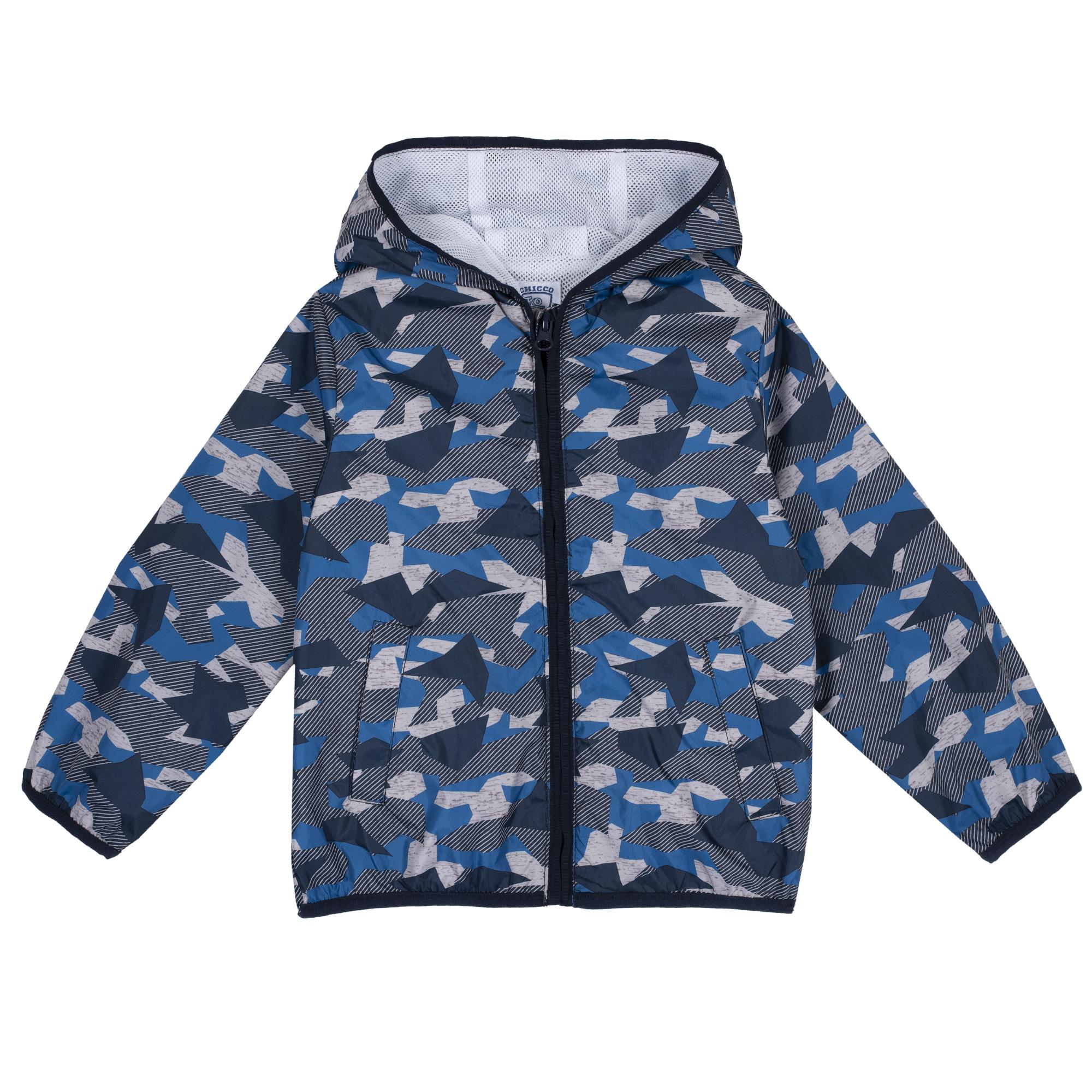 Jacheta copii Chicco, cu gluga, albastru, 87454