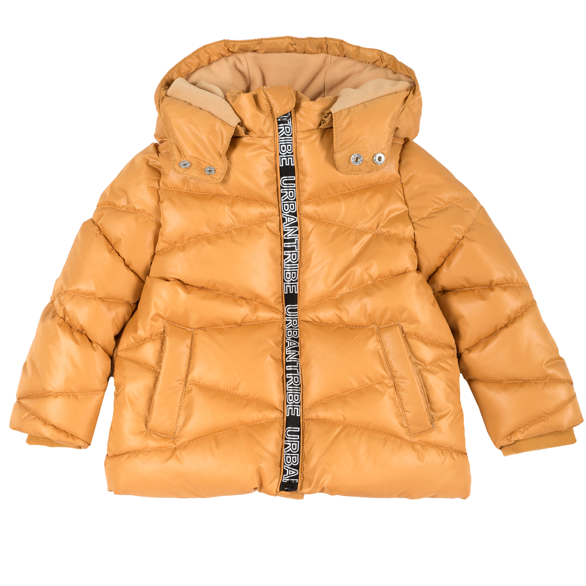 Jacheta copii Chicco, matlasata cu gluga detasabila, auriu, 87442
