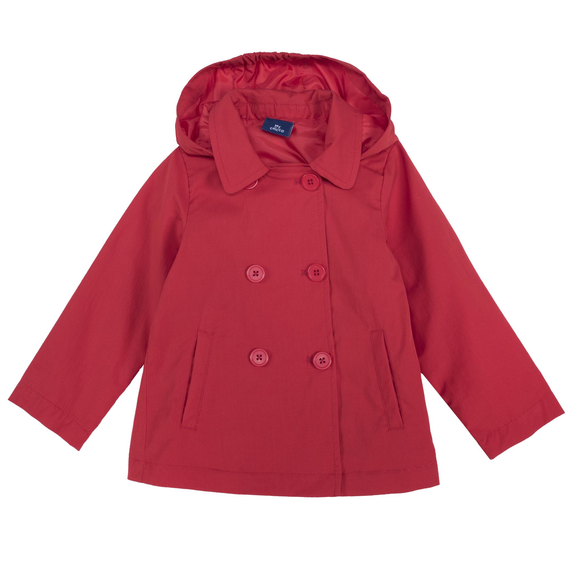 Jacheta copii Chicco, gluga detasabila, rosu, 87401