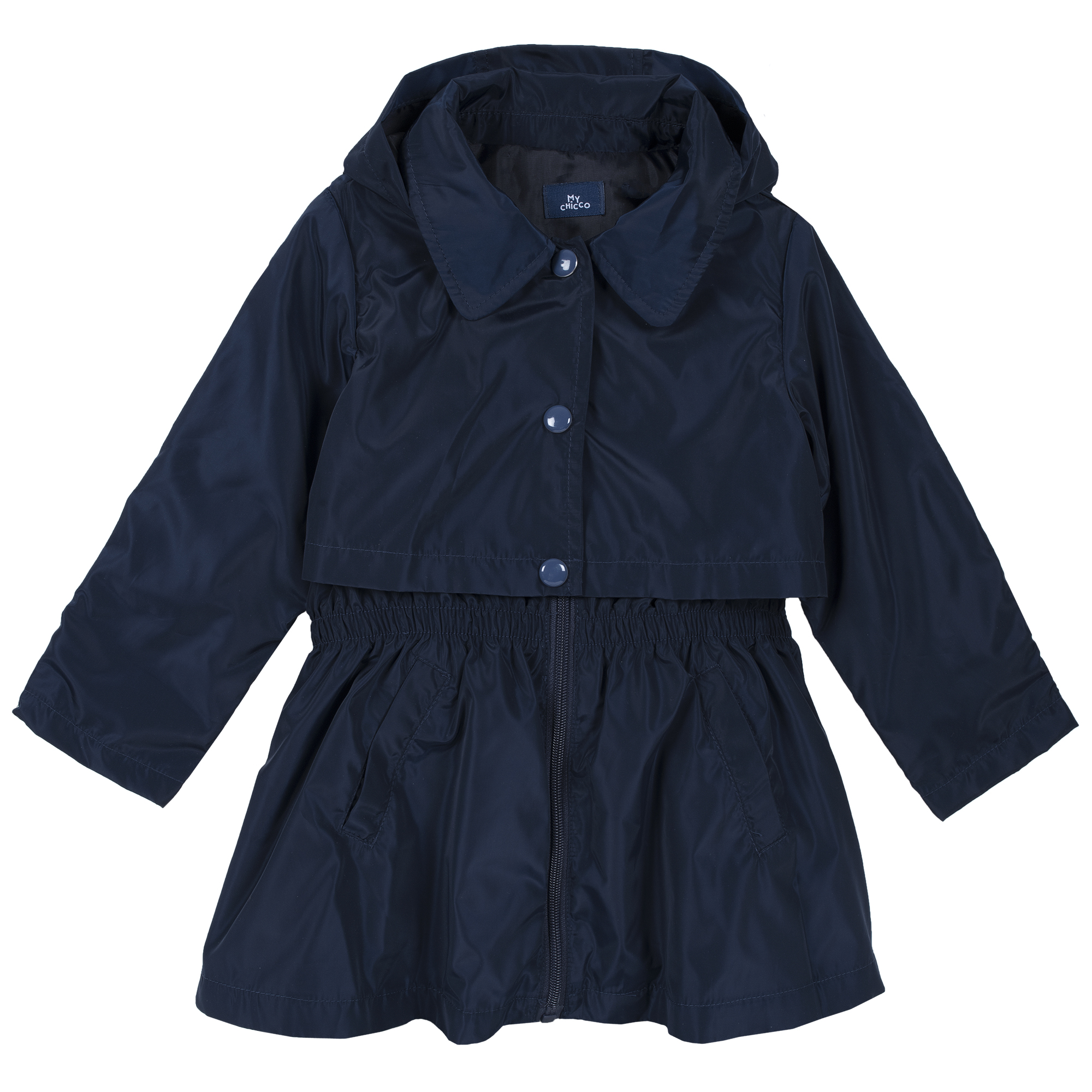 Jacheta copii Chicco, gluga detasabila, albastru inchis, 87399