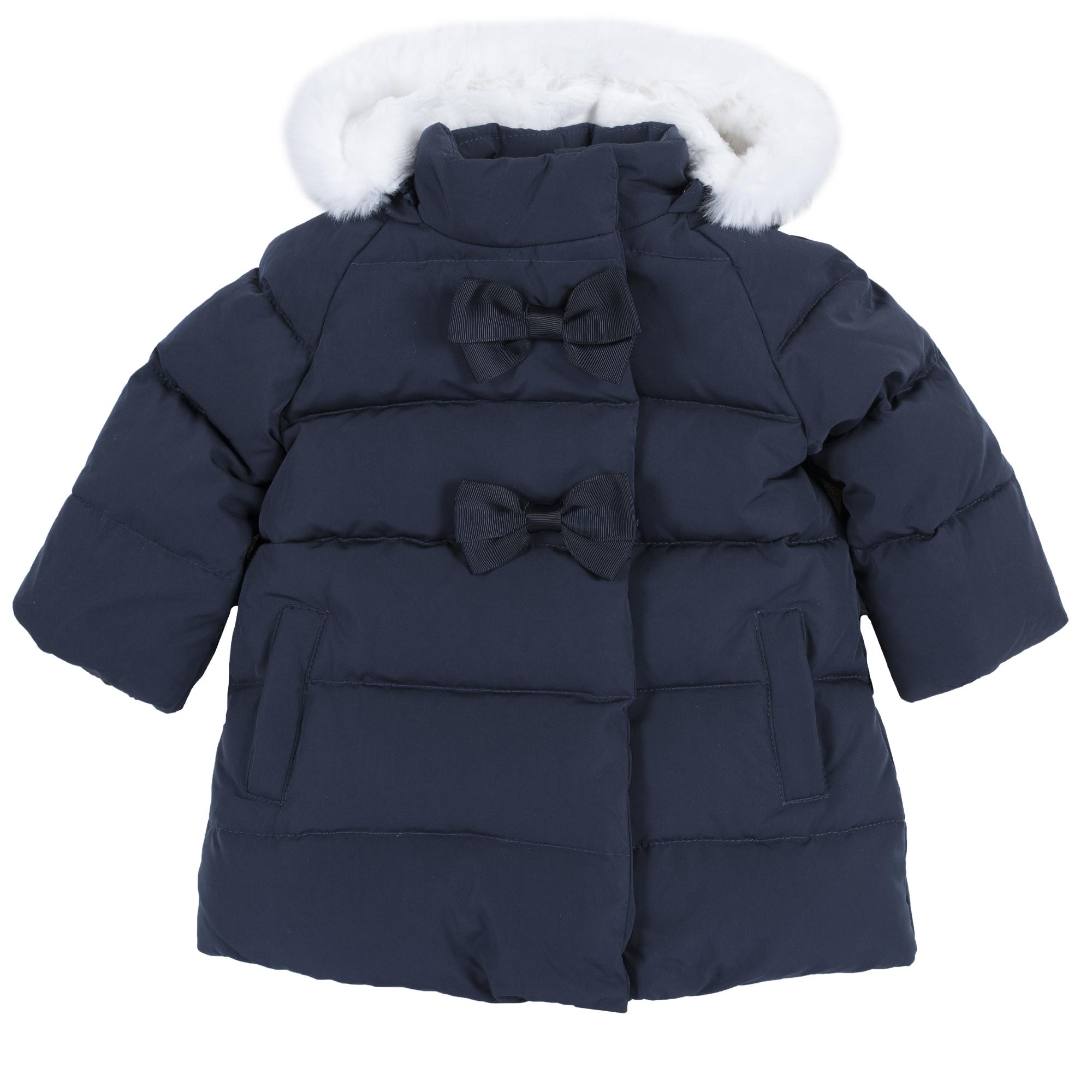Jacheta copii Chicco, cu puf si pene de rata, bleumarin, 87428 din categoria Jachete copii