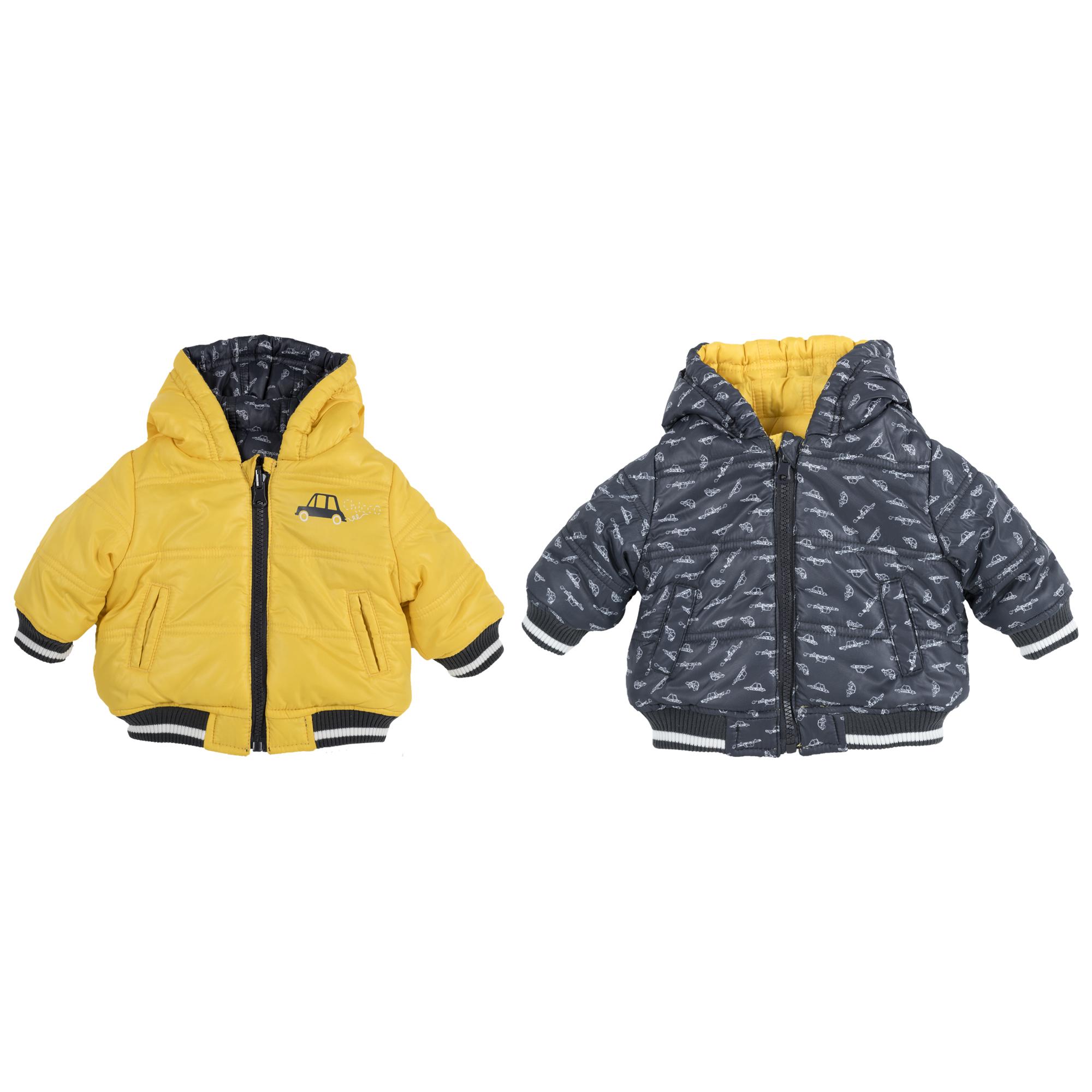 Jacheta reversibila copii Chicco, galben auriu