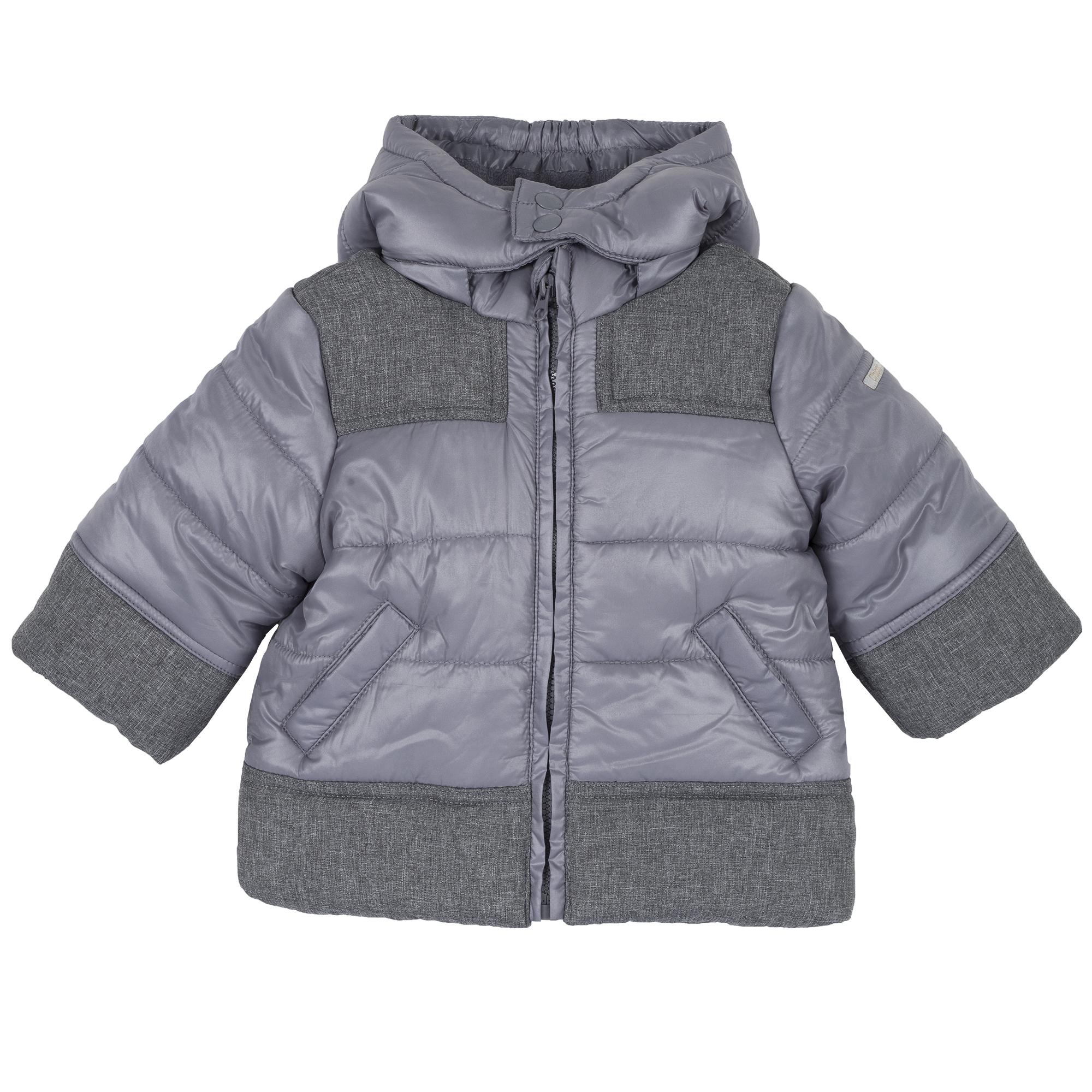 Jacheta copii Chicco ThermoSoft, gluga detasabila, gri, 87403 din categoria Jachete copii