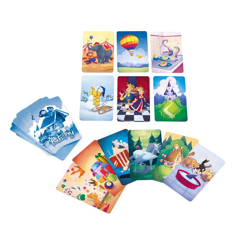 Joc de familie cu carti Poveste fantastica 3 ani+