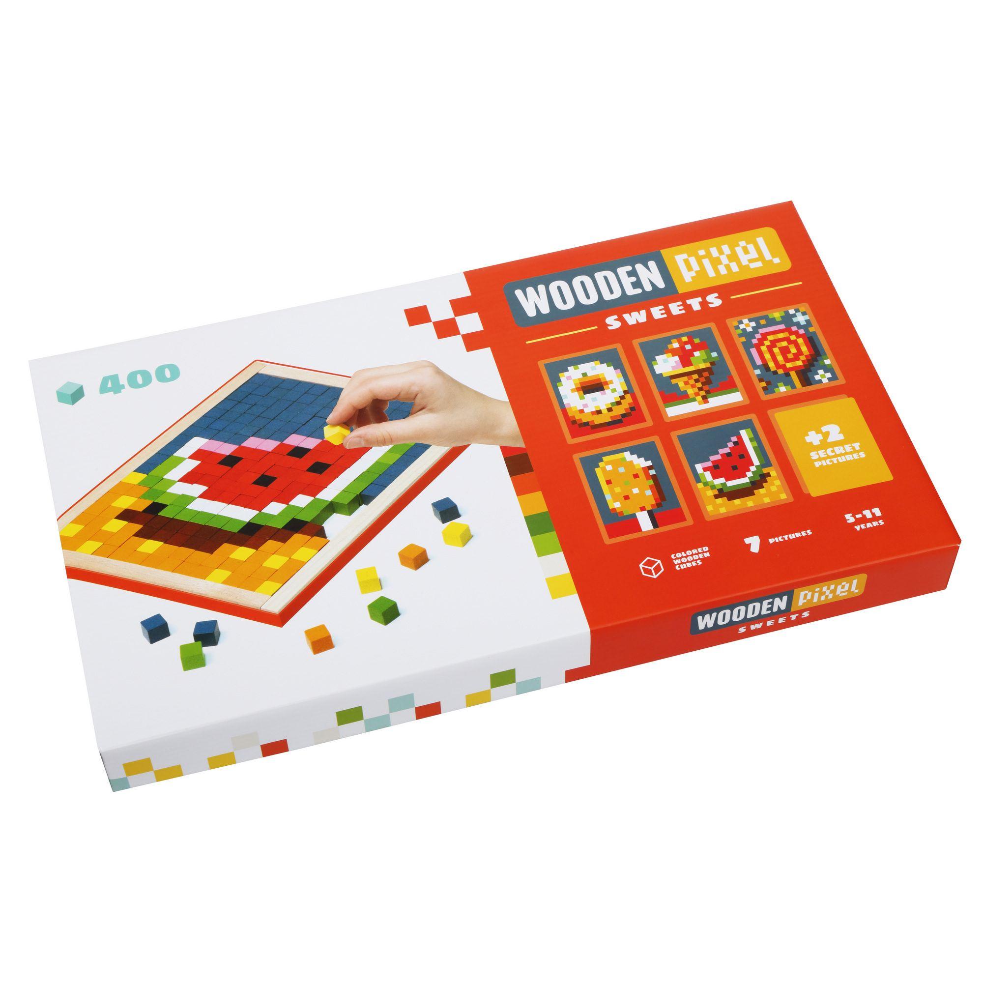 Joc Din Lemn Cubika, Mozaic Pixel Sweets imagine